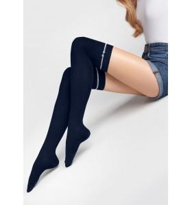 Чорапи над коленете в тъмно синьо