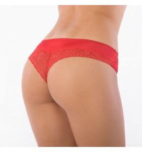 Бразилиана бикини нормална талия червена