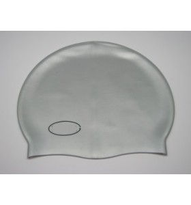 Силиконова шапка за плуване сребриста