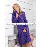Дамски халат виолетова лилия