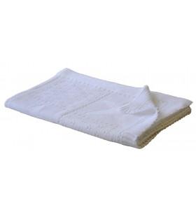 Бяло бебешко одеяло плетиво