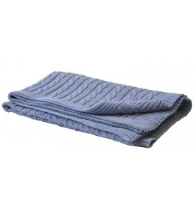 Синьо бебешко одеяло плетиво