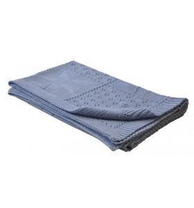 Синьо бебешко одеяло