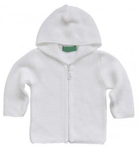 Бяла бебешка жилетка 62-92 см.