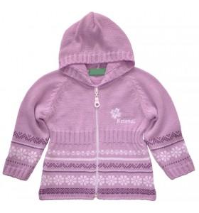 Бебешка жилетка в лилаво 86-110 см.