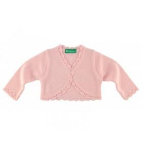 Розово детско болеро