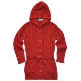Червена дълга детска жилетка