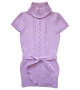 Лилава детска плетена туника