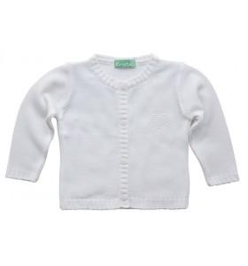 Бебешка жилетка бяла 74см. до 110 см. момиче
