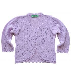 Детска жилетка за момиче 86 см до 110 см лилава