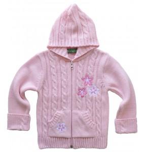 Розова детска жилетка от 74 см. до 98 см.