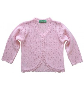 Детска жилетка за момиче 86 см до 110 см розова