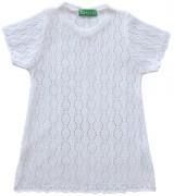 Бяла детска плетена туника