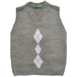 Пуловер за момче сив