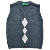 Син пуловер за момче