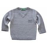 Плетен пуловер за момче дълъг ръкав от 1г. до 12г.