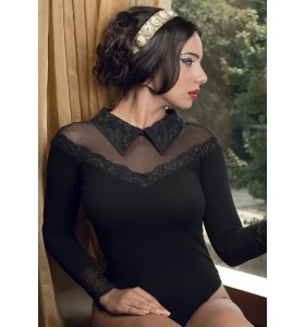 Дамско боди риза бикини или прашка в черно