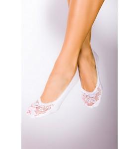Чорап тип терлик дантела и памук