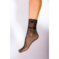 Къси фигурални чорапи в черно