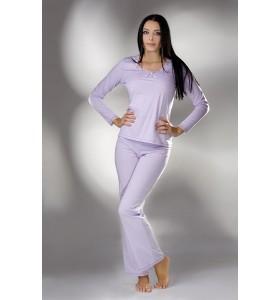 Дамска пижама с дълги ръкави