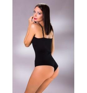Дамско боди памук тънки презрамки бразилиана