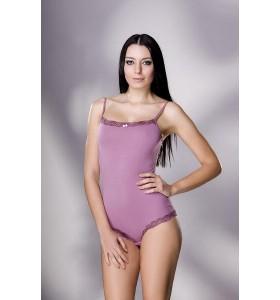 Дамско боди тънка презрамка лилаво