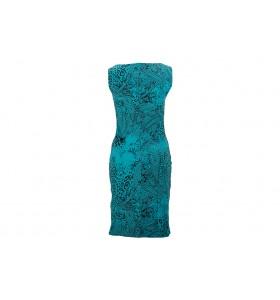 Дамска ежедневна рокля петрол