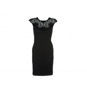 Дамска ежедневна рокля в черно