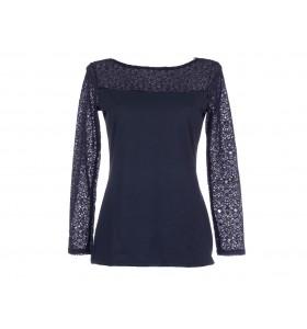 Дамска блуза памук и дантела